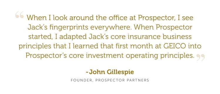 Prospector John Gillespie Blog Quote